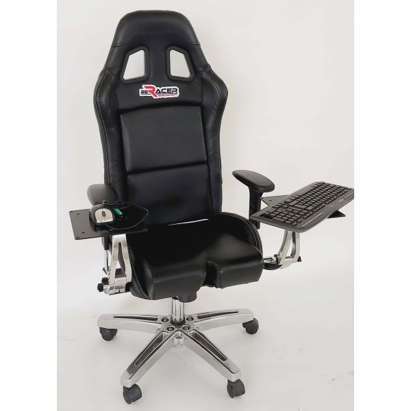 BeRacer Office Seat With armrests, mouse  and keyboard