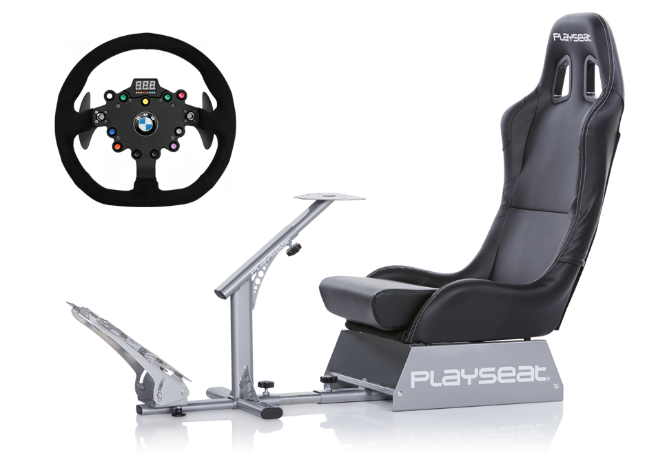 Playseat® Evolution and Fanatec ClubSport Wheel Rim BMW M3 GT2 bundle