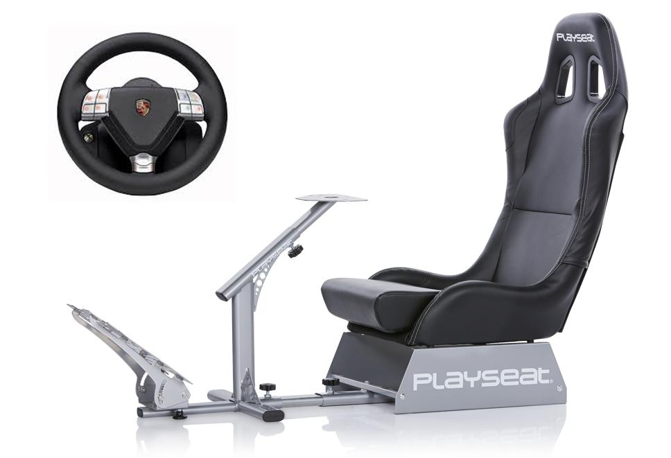 Simulateur de conduite Playseat® Evolution et volant Fanatec Porsche 911 Turbo S bundle